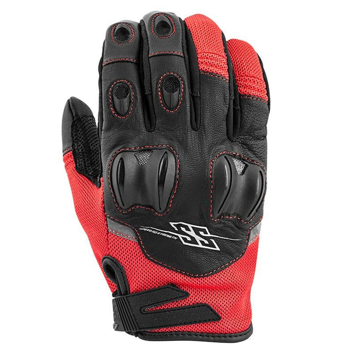 SPEED AND STRENGTH Power and The Glory™ Leather/Mesh Gloves Men's Motorcycle Gloves SPEED AND STRENGTH Red S
