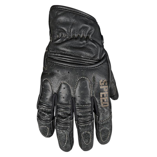 SPEED AND STRENGTH Rust and Redemption™ Leather Gloves Men's Motorcycle Gloves SPEED AND STRENGTH Black S