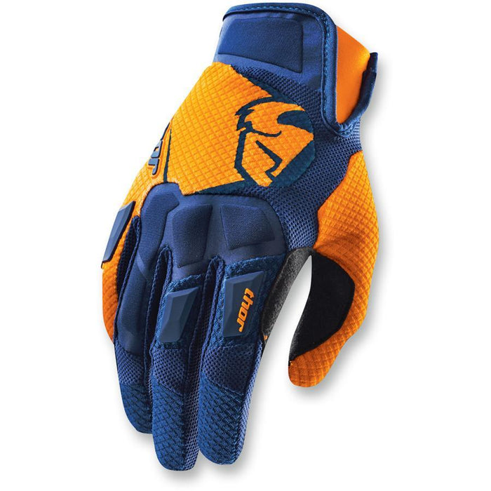 THOR GLOVE S15 FLOW NAVY/ORANGE Motocross Gloves Thor