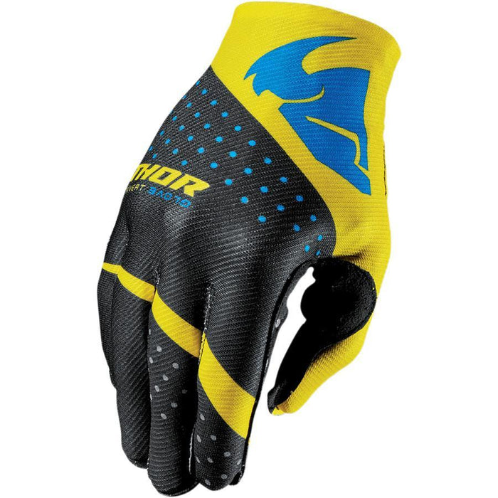 THOR GLOVE S7 INVERT RHYTHM YELLOW Motocross Gloves Thor