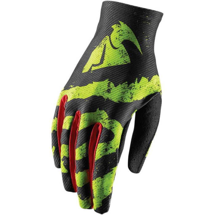 THOR GLOVE S8 VOID RAMPANT LIME/RED Motocross Gloves Thor