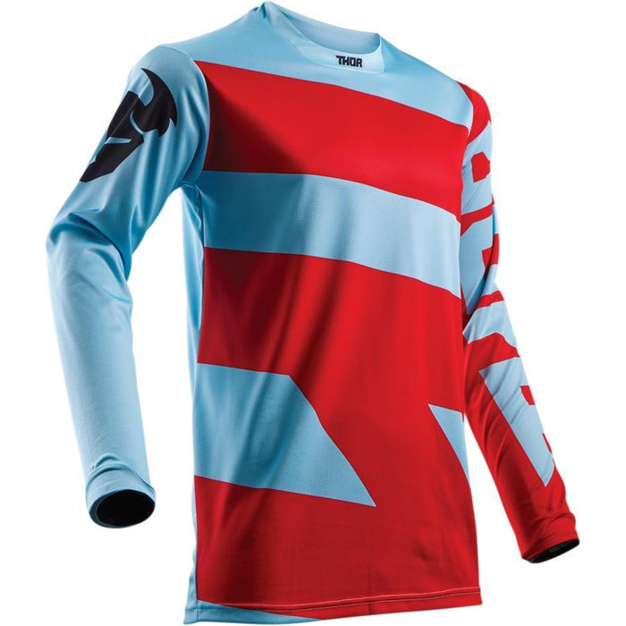 THOR JERSEY PULSE LEVEL BLUE/RED Men's Motocross Jerseys Thor