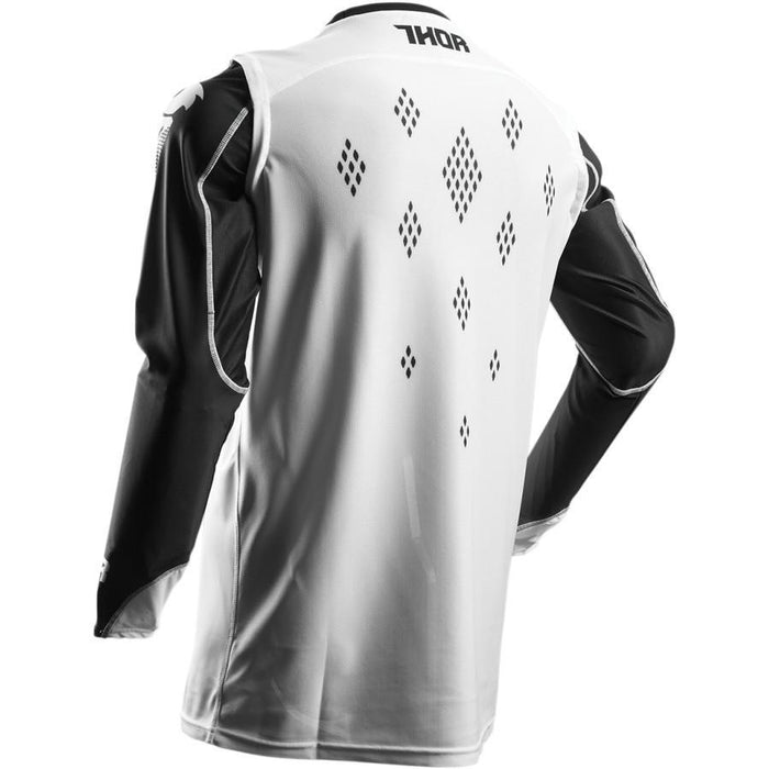 THOR JERSEY S7 PRIME FIT ROHL BLACK/WHITE Men's Motocross Jerseys Thor