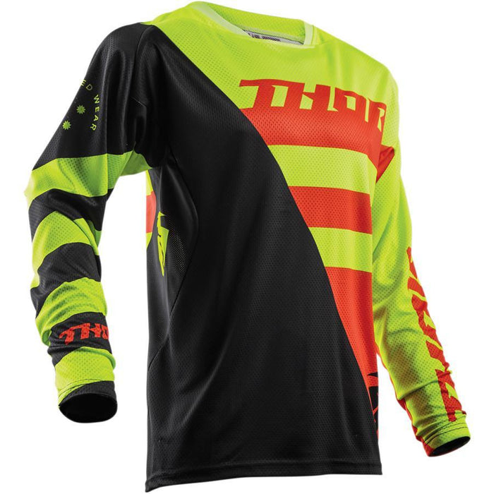 THOR JERSEY S8 FUSE AIR RIVE LIME/ORANGE Men's Motocross Jerseys Thor