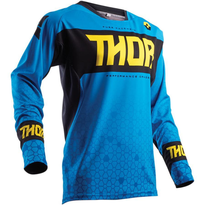 THOR JERSEY S8 FUSE BION BLUE Men's Motocross Jerseys Thor
