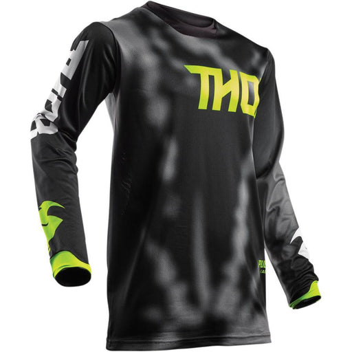 THOR JERSEY YOUTH PULSE AIR RADIATE BLACK Youth Motocross Jerseys Thor