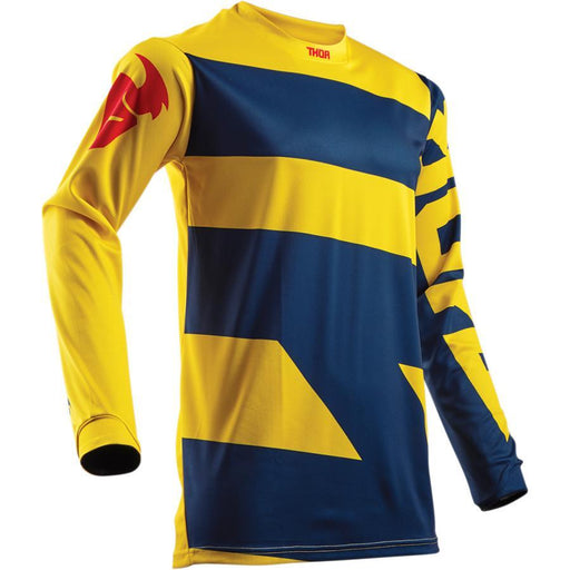 THOR JERSEY YOUTH PULSE LEVEL NAVY/YELLOW Youth Motocross Jerseys Thor