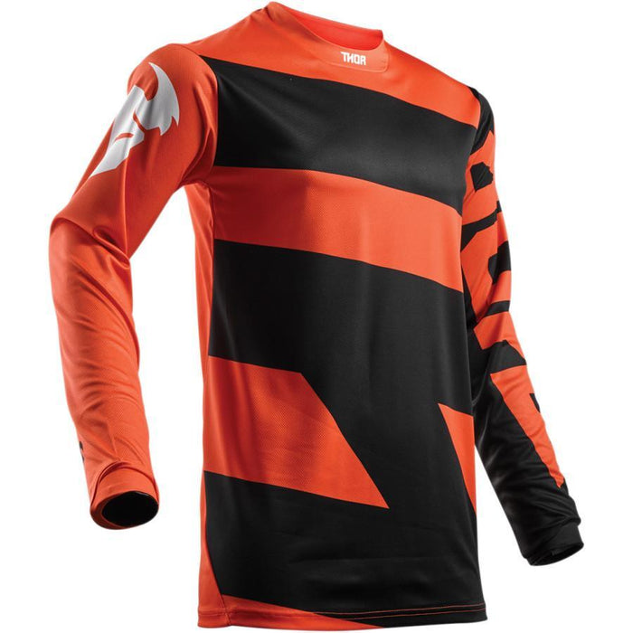 THOR JERSEY YOUTH PULSE LEVEL RED ORANGE/BLACK Youth Motocross Jerseys Thor