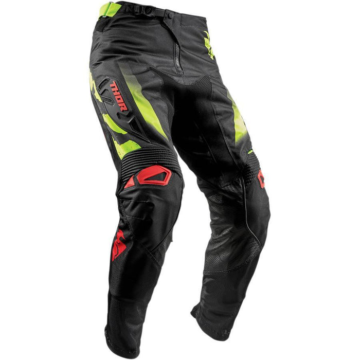 THOR PANT FUSE RAMPANT BLACK/RED/LIME Men's Motocross Pants Thor