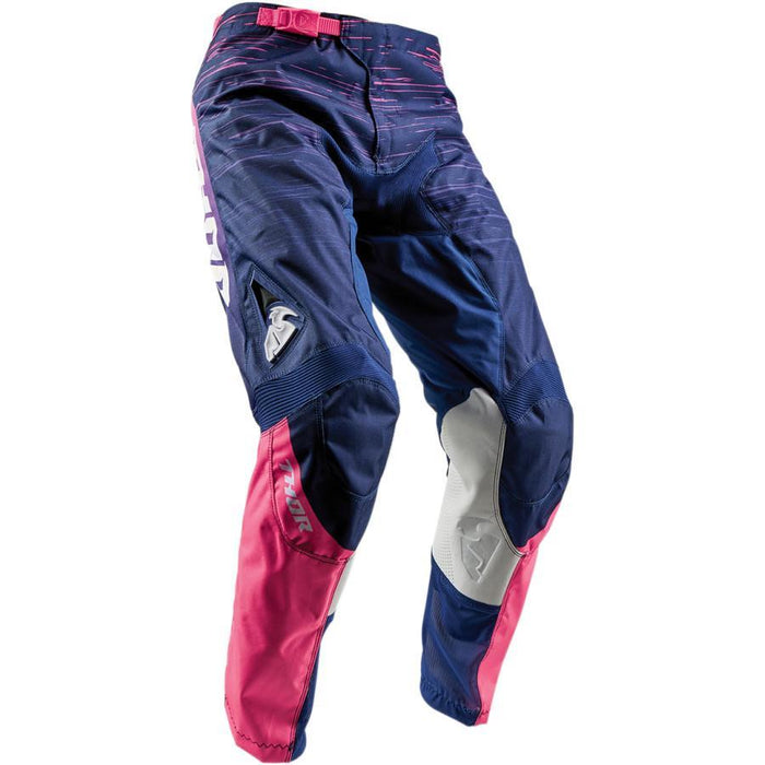 THOR PANT WOMEN'S PULSE DASHE NAVY/PINK Women's Motocross Pants Thor