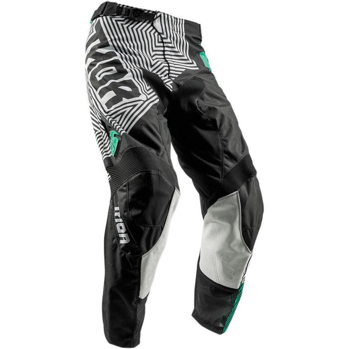THOR PANT YOUTH PULSE GEOTEC BLACK/TEAL Youth Motocross Pants Thor