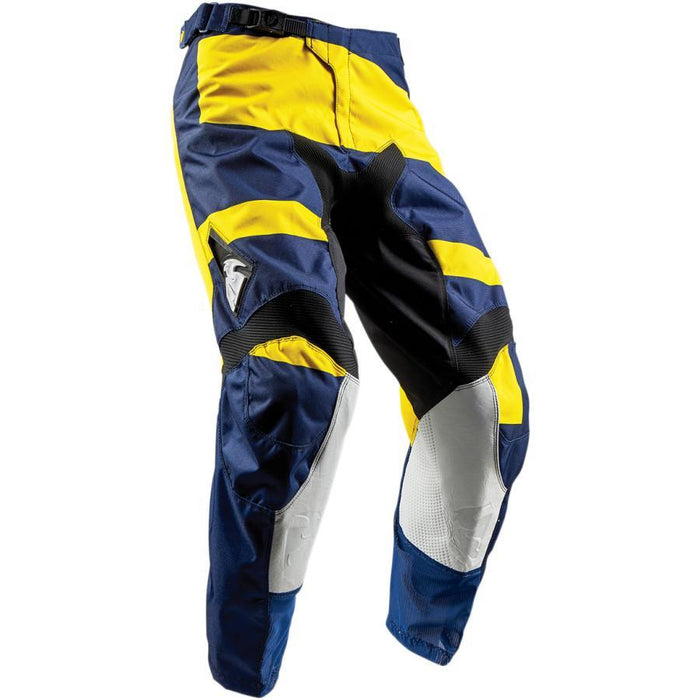 THOR PANT YOUTH PULSE LEVEL NAVY/YELLOW Youth Motocross Pants Thor