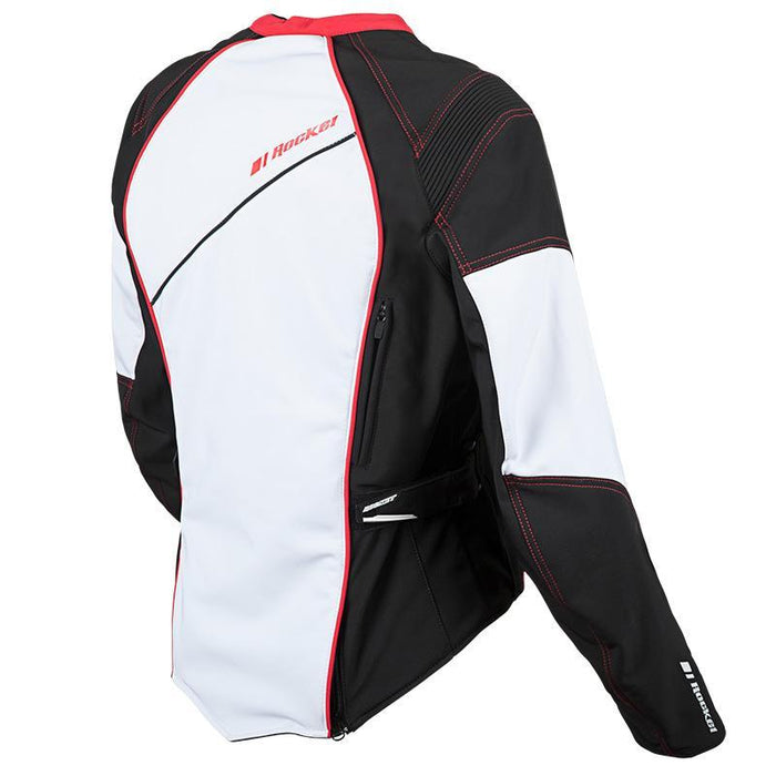 Aurora Textile Jacket in White/Red/Black - Back