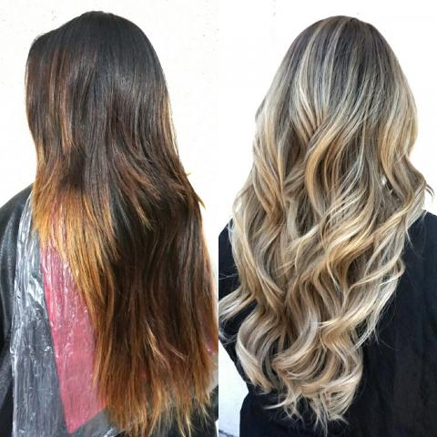 Kimemily Pham 'before' and 'after' from Modern Salon Magazine