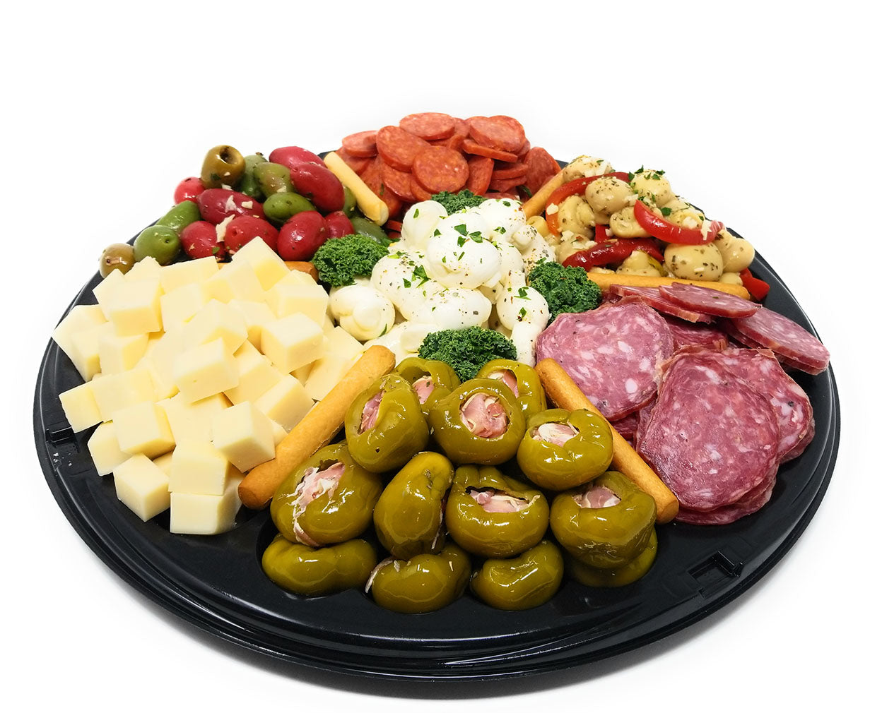Frank and Sal Famous 12 Inch Antipasto Tray Feeds 6 - 8 People - Made Fresh Per Order - Overnight Free Shipping