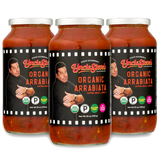 Three 25 Ounce Jars of Uncle Steve's Organic Arrabiata - Free Shipping