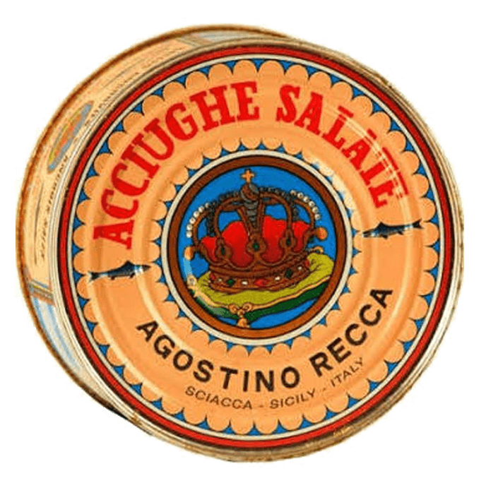Anchovies - Agostino Recca Salted Anchovies  FREE SHIPPING