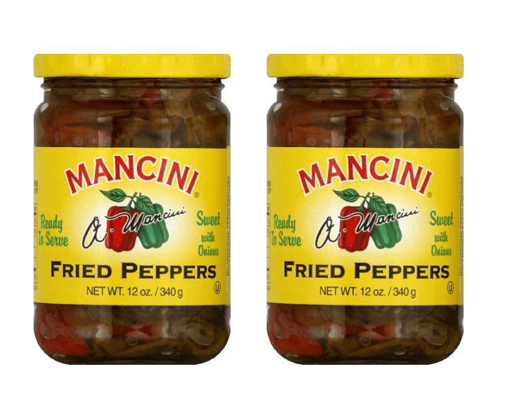 Antipasto - Mancini - Fried Peppers With Onions, (2)- 12 Oz. Jars - Free Shipping