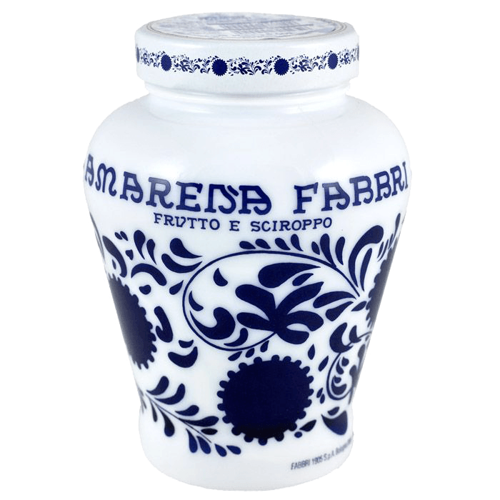 Fabbri Wild Cherries In Syrup - Amarena Fabbri Wild Cherries In Syrup - Complete With Opaline Vase 600 Grams - 2 Pack