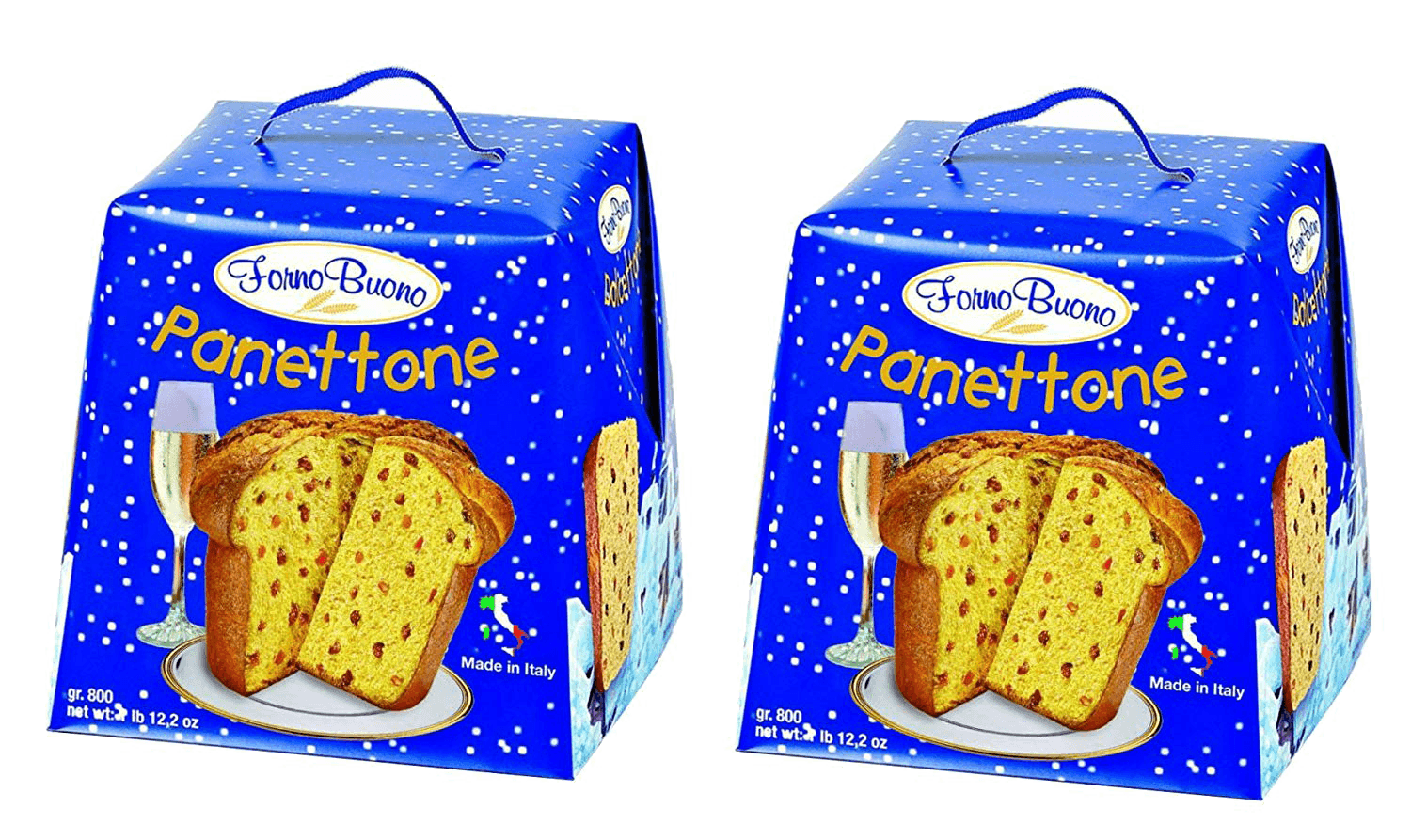 Forno Buono Panettone 2018 Holiday Season - 2 Pack - 1 Pound 12 Ounces Each