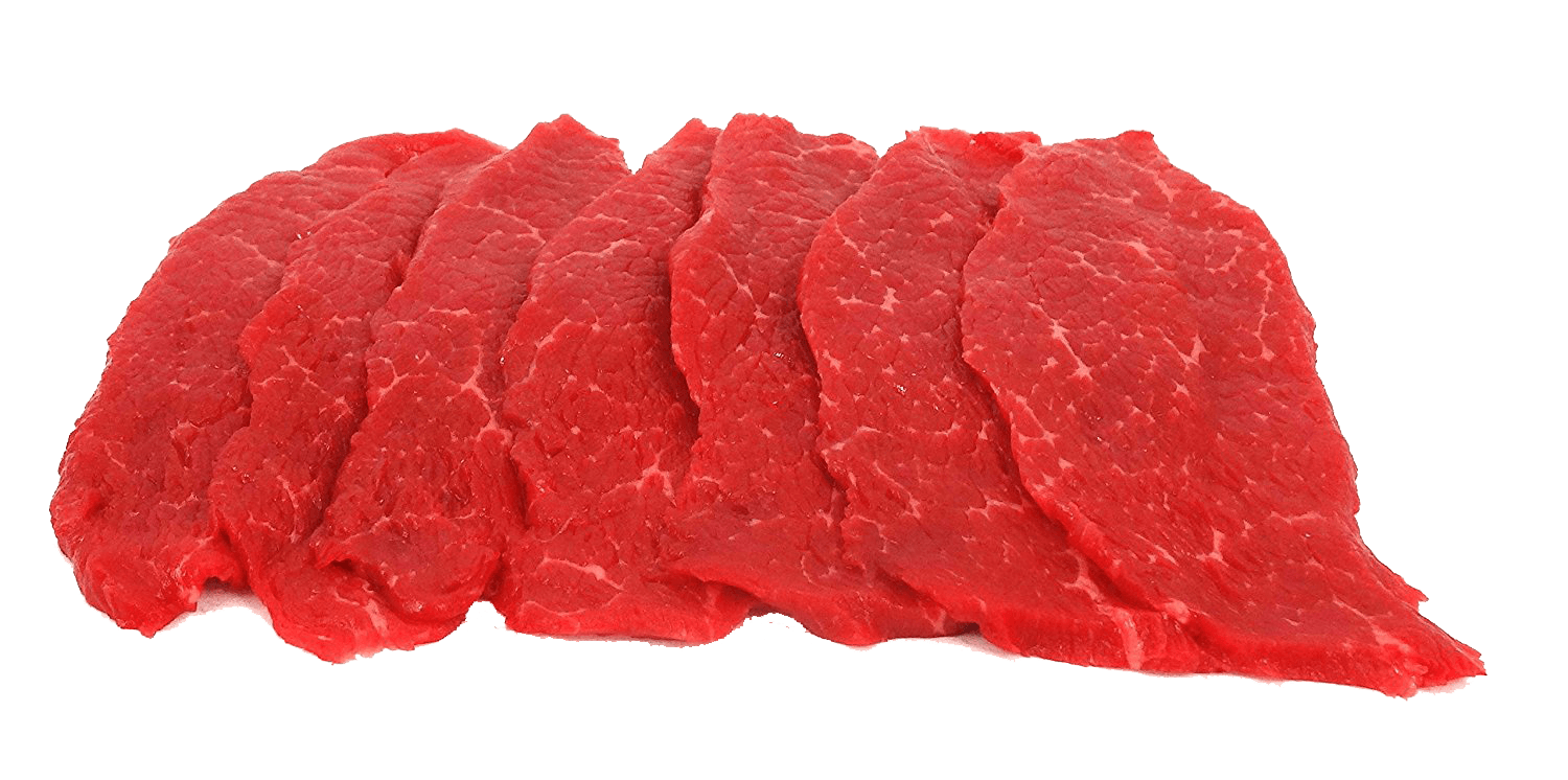 Fresh Local Meat Delivery - Black Angus - Top Round Steak (14 Steaks 1 Pound)  Includes Shipping