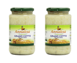 Annalisa Grano Cotto Per Pastiera, Cooked Wheat for Easter Cake, Grain Pie, Pastiera Napoletana- 2- Jars - Free Shipping