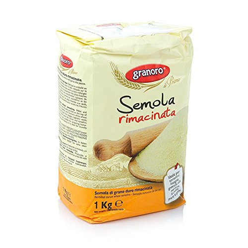 Granoro Semolina Rimacinata  (Semolina Flour) Packed and Milled in Italy - 2 Pack