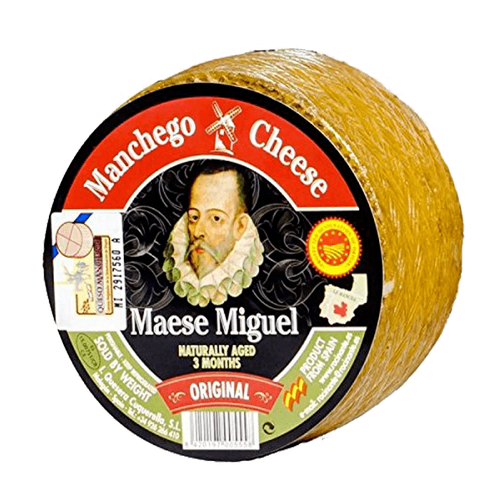 International Cheese - MANCHEGO MAESE MIGUEL D.O.P Mini Wheel - Approximately One Pound - Free Shipping