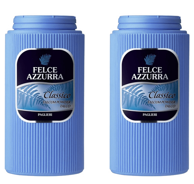Italian Bath Products - Felce Azzura Talco Classico Made In Italy -2 - 17.64 - Ounce Containers - Talcum Powder FREE SHIPPING