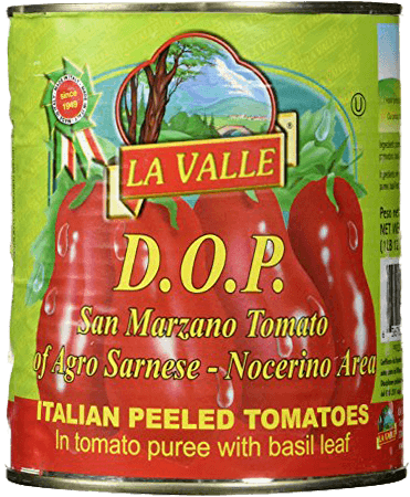 Italian Tomatoes - La Valle San Marzano Peeled Tomatoes D.O.P. - 5 - 28 Ounce Cans Free Shipping