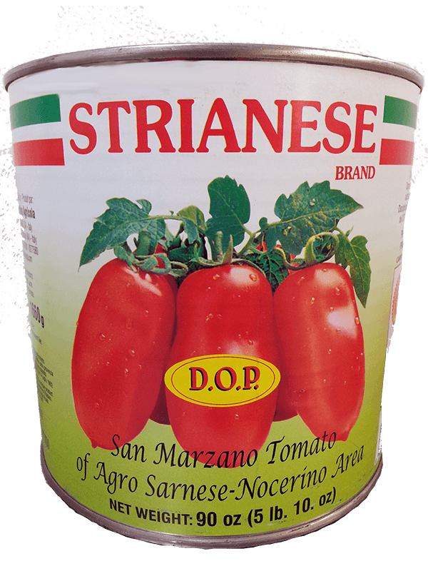 Italian Tomatoes - Strianese Italian DOP San Marzano Tomatoes LARGE 90 Ounce Can FREE SHIPPING
