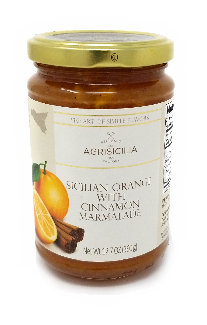 Sicilian Orange Marmalade with Cinnamon 12.7 Ounces Product of Italy - Free Shipping