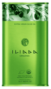 "Olive Oil - Iliada Organic 3 Liter Tin. ""NEW"" First Cold Pressed."