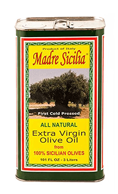 Olive Oil - Madre Sicilia  Extra Virgin Olive Oil. 101 Fl Oz. -  3 Liters. FREE SHIPPING