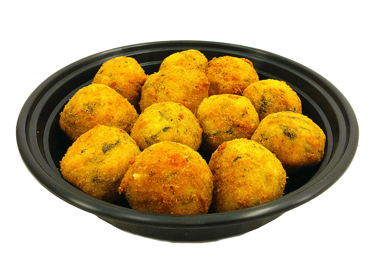 Prepared Food - 24 Mini Spinach Italian Rice Balls (Arancini) Made Fresh Daily - Ready To Eat