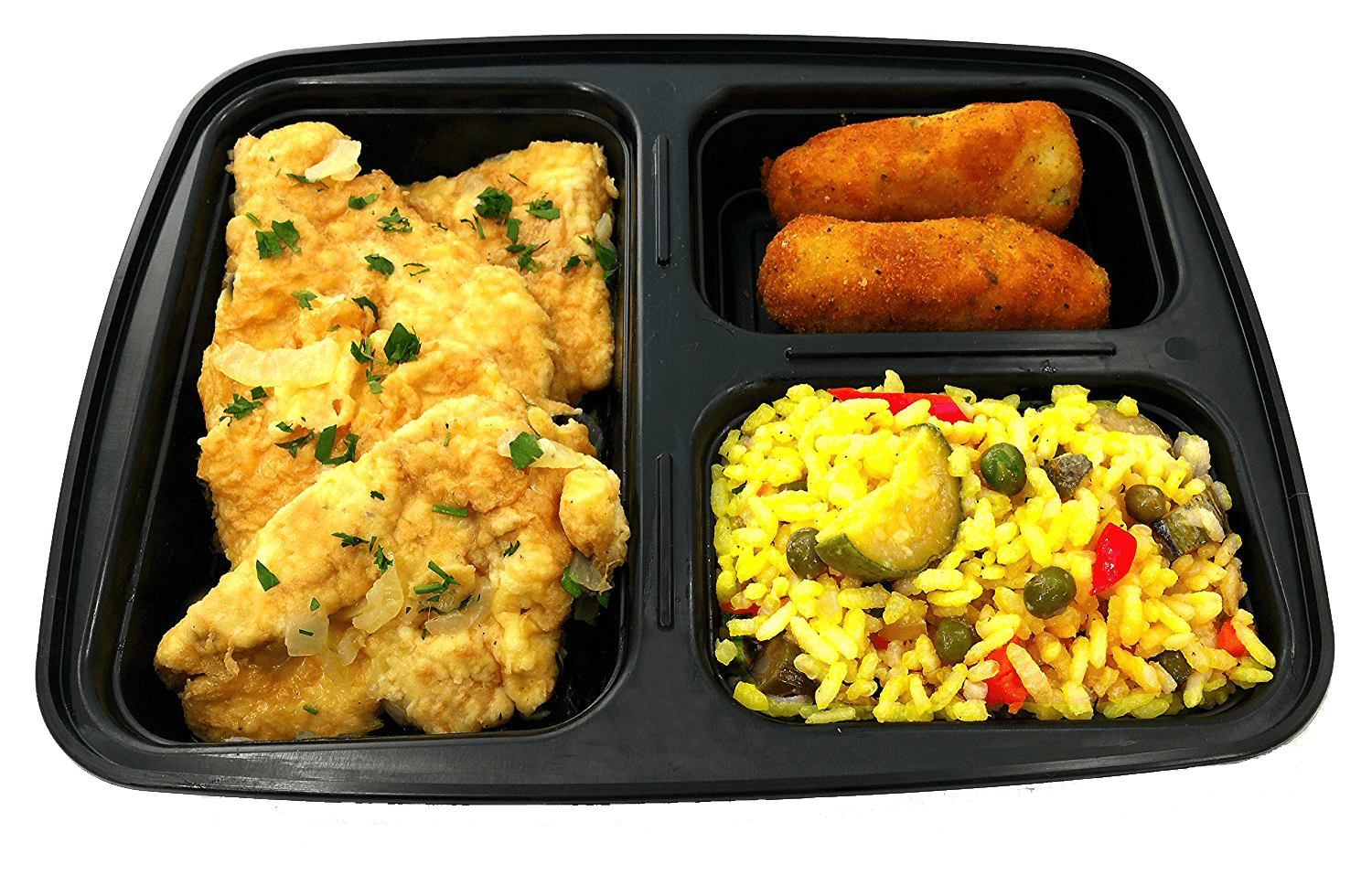 Prepared Food - Fully Cooked Complete Meal Heat And Serve - Chicken Francese, Potato Croquettes And Arborio Rice Made Fresh Daily. - 4 Orders -