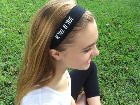 cloth BE YOU. BE TRUE. headband