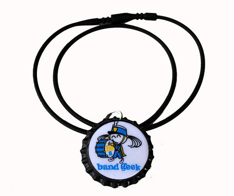 be a band geek bottle cap necklace