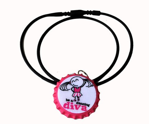 be a dancing diva bottle cap necklace