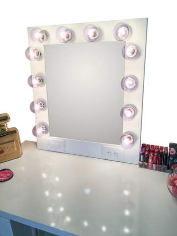 The Hollywood Vanity Mirror- Matte White
