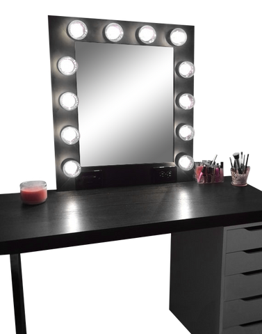 The Hollywood Vanity Mirror- Matte Black