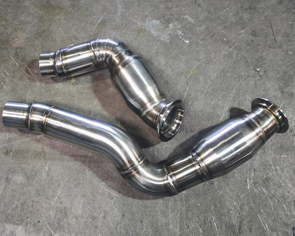 Agency Power High Flow Cat Stainless Steel Down Pipes BMW M3 F80 | M4 F82/F83 15-16
