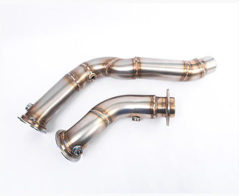 Agency Power BMW M4 F82/F83 High Flow Catless Stainless Steel Down Pipes