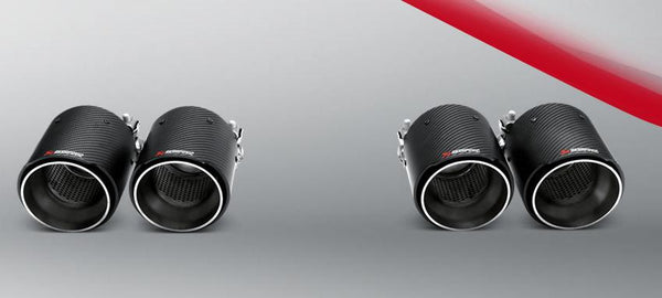 Akrapovic F80 M3 & F82 M4 Carbon Fiber Rear Tail Pipe