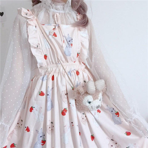 LOLI STRAWBERRY BUNNY TOP AND DRESS