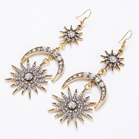 RADIANT SUN MOON EARRINGS
