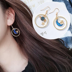 BLUE EARRINGS (8pairs)