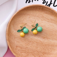 SWEET CHERRY FRUIT EARRINGS (3 pairs)