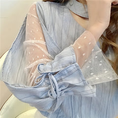 TWO-PIECE LACE SHIRT