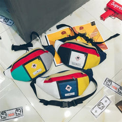 VINTAGE COLORBLOCKED BAG